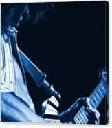 Sonic Blue Guitar Explosions Canvas Print