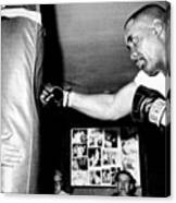 Sonny Liston Working Out On The Heavy Canvas Print