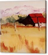 Sonoma Wheatfield Canvas Print