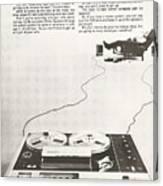 Sony Vintage Advert Canvas Print
