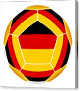 Soocer Ball With Germany Flag Canvas Print