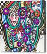 Sooooooo Many Faces Canvas Print