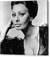 Sophia Loren, In Costume For Arabesque Canvas Print