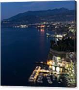 Sorrento Bay At Night Canvas Print