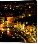 Sorrento Harbor At Night Canvas Print