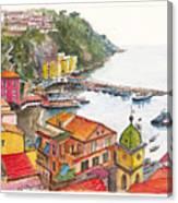 Sorrento Harbour Canvas Print