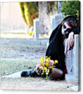 Sorrow - Dia De Los Muertos Canvas Print