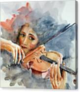Sound Of Violin... Canvas Print