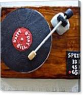 Record Player Cake Canvas Print