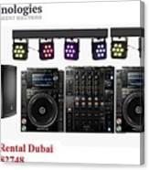 Sound System Rental Dubai - Rent,lease,hire Sound System Dubai Canvas Print