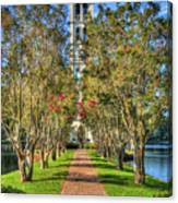 Sounds Of Victory The Bell Tower Furman University Greenville South Carolina Art Canvas Print