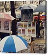 Sous La Parapluie Canvas Print