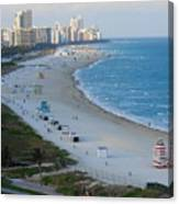 South Beach At Its Best Canvas Print