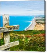 South Beach At Point Reyes Canvas Print