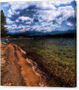 South Beach At Priest Lake Canvas Print