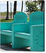 South Beach Bench Canvas Print