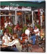 South Beach Cafe Canvas Print