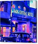 South Beach Hotel Canvas Print