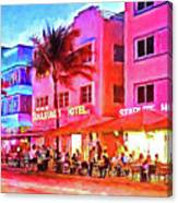 South Beach Neon Canvas Print