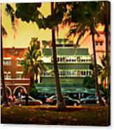 South Beach Ocean Drive Canvas Print