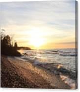 South Beach Sunset Canvas Print