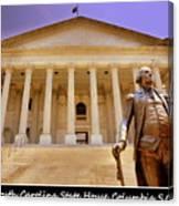 South Carolina State House Columbia Sc Canvas Print