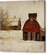 South Dakota Corn Crib Canvas Print