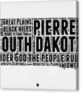 South Dakota Word Cloud 1 Canvas Print