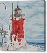 South Haven Lighthouse, South Have, Michigan  Canvas Print