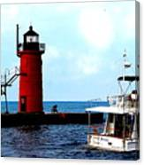 South Haven Michigan Lighthouse By Earl's Photography Canvas Print