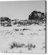 South Hessary Tor In The Snow Canvas Print
