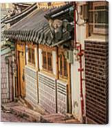 South Korean Hanok Street Canvas Print