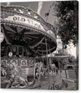 South London Carousel Canvas Print