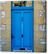 South Of France Rustic Blue Door  Canvas Print