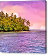 South Seas Sunset Canvas Print
