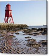 South Shields Groyne Canvas Print