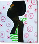 South Sudanese Lady Canvas Print
