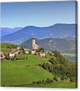 South Tyrolean Panorama Above Bolzano. Canvas Print