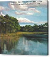 South Walton Telephone Directory Cover Art Canvas Print