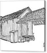 Southern Pacific Depot, Skull Valley, Az Canvas Print