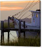 Southern Shrimp Boat Sunset Canvas Print
