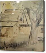 Southland Adobe Barn Canvas Print