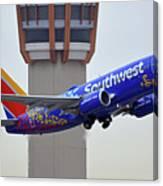 Southwest 737-7l9 N7816b Coco Phoenix Sky Harbor November 30 2017 Canvas Print