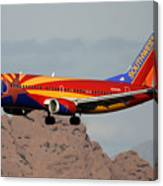 Southwest Boeing 737-3h4 N383sw Arizona Phoenix Sky Harbor December 20 2015  Canvas Print