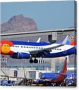 Southwest Boeing 737-7h4 N230wn Colorado One Phoenix Sky Harbor January 24 2016 Canvas Print