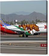 Southwest Boeing 737 California At Phoenix Sky Harbor November 10 2010 Canvas Print