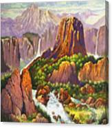 Southwest Mountain Floodwaters Canvas Print