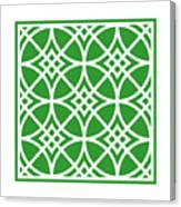 Southwestern Inspired With Border In Dublin Green Canvas Print
