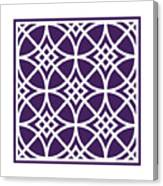 Southwestern Inspired With Border In Purple Canvas Print