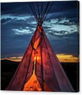 Southwestern Teepee Sunset Canvas Print